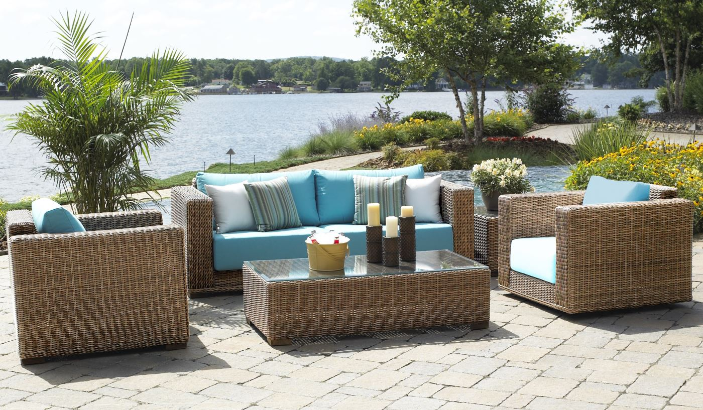 wicker outdoor furniture outdoor patio wicker furniture | santa barbara FZYGYXP