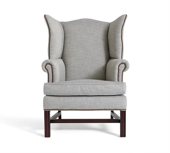 wing chair thatcher upholstered wingback chair | pottery barn XYMYFKW
