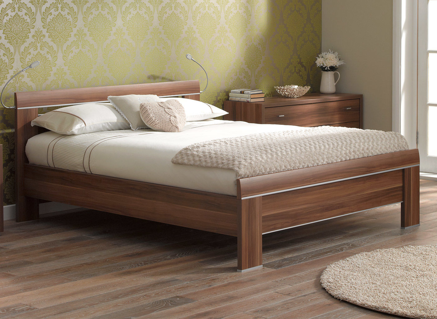 wooden beds berkeley bed frame walnut QHKSKLC