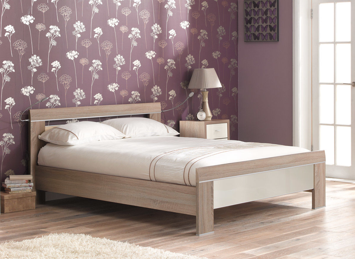 wooden beds berkeley oak and magnolia gloss wooden bed frame NTXWDNU