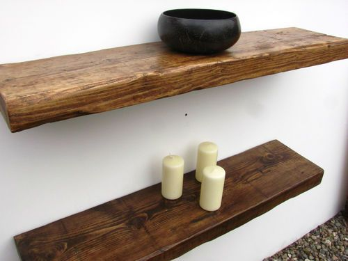 wooden shelves details about reclaimed chunky floating shelf shelves wooden VZPLCKU