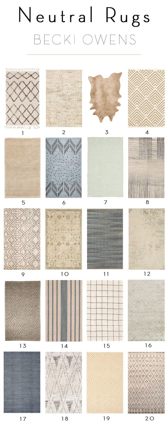 20 neutral rugs 25% off JQGCRGL