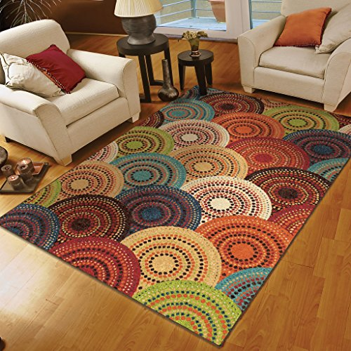 8×10 rugs orian rugs circles gomaz multi area rug 78 x 1010 area rugs shop PINPHSJ