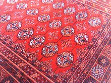 Afghan rugs the famous bukhara print. INKCTGU