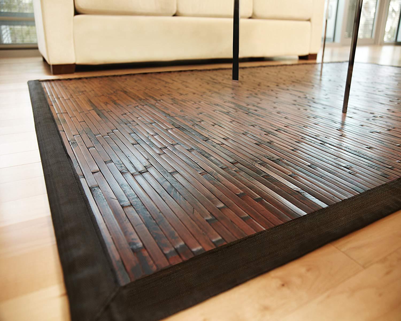 amazon.com: anji mountain cobblestone bamboo rug 7u0027 x 10u0027 (amb00850710):  kitchen u0026 MDXZZDW