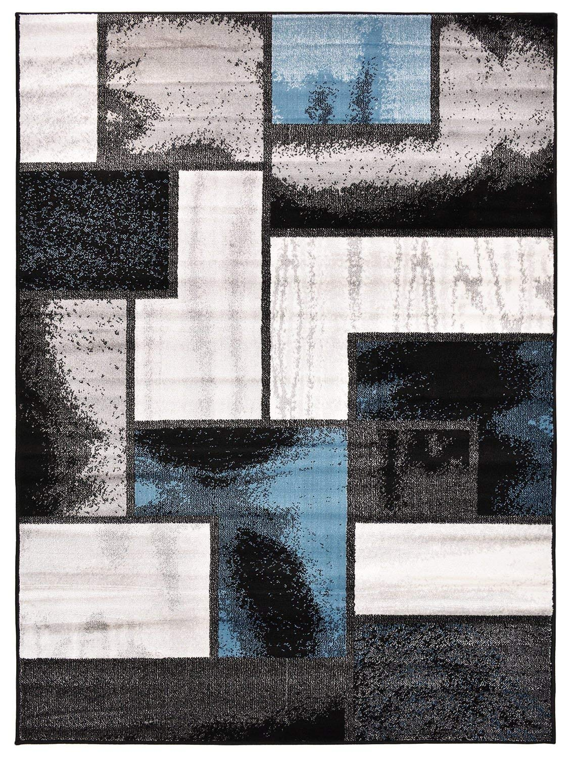 amazon.com: comfy collection squares geometric design area rug modern  contemporary rug 2 NPPLHYH
