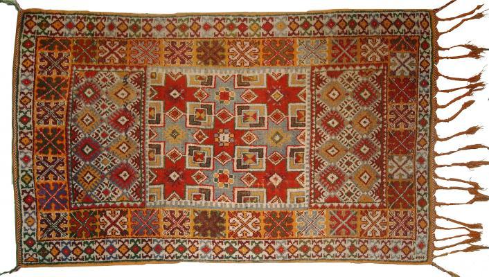 antique moroccan berber handmade rug, 1900s 2 QXNGOBL
