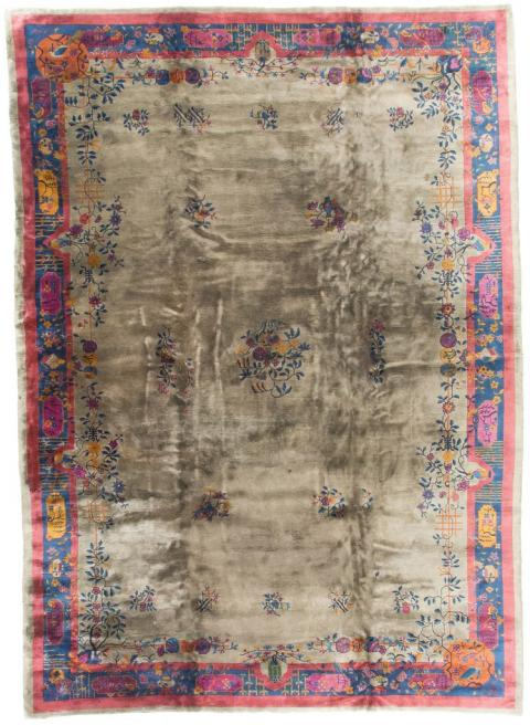 antique rugs ant87321 antique chinese grey / blue / fucshia 11u0027 0 LIOTIKH