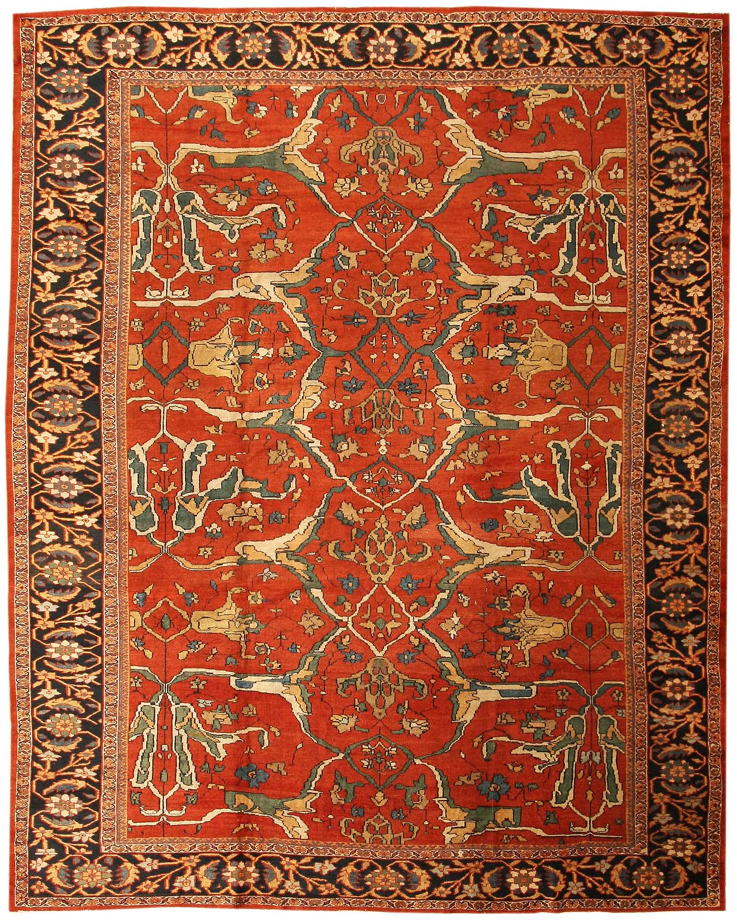 antique rugs sultanabad | antique persian sultanabad rug 43442 nazmiyal rugs LTIFWGD