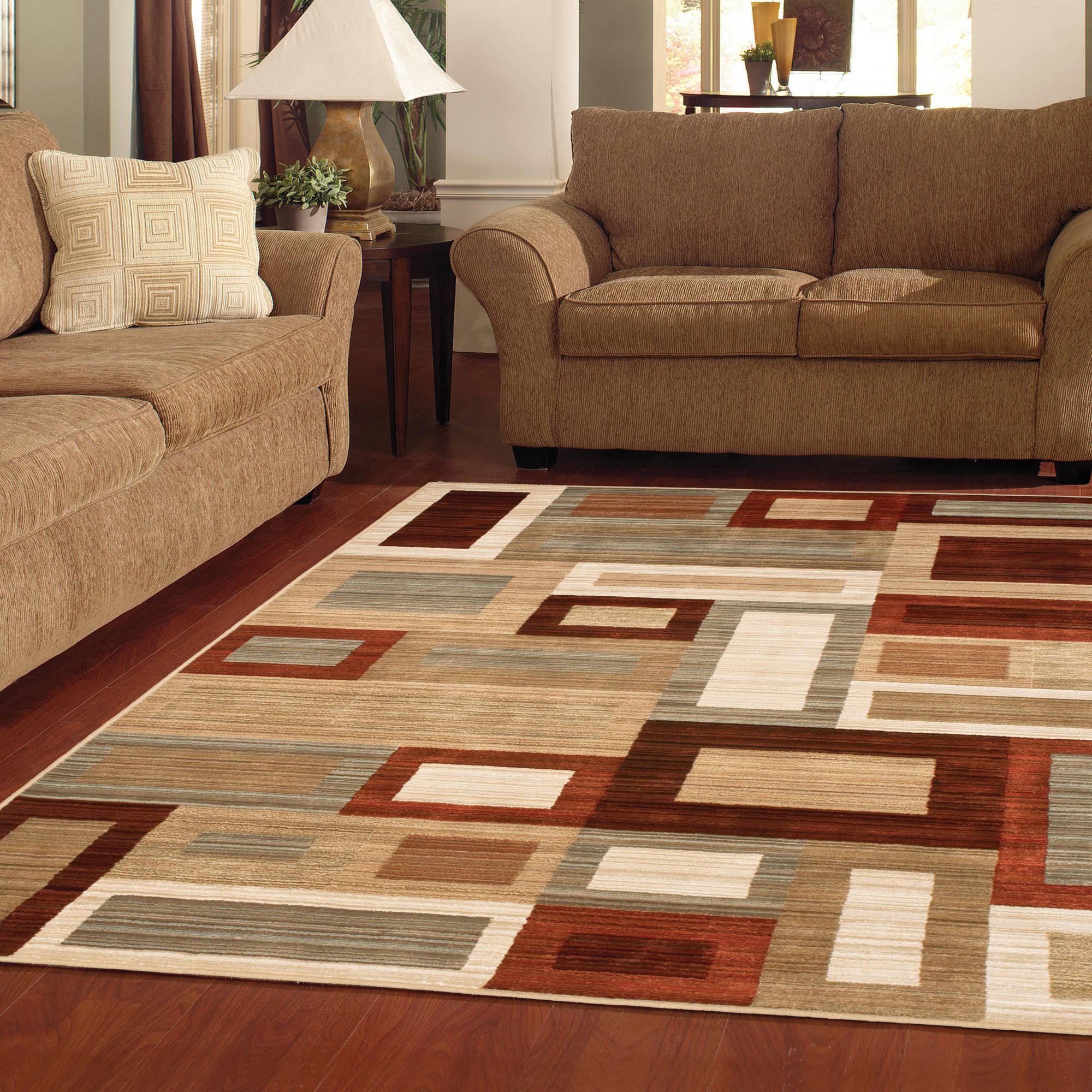 area carpet better homes and gardens franklin squares area rug or runner - walmart.com KWGXVVS