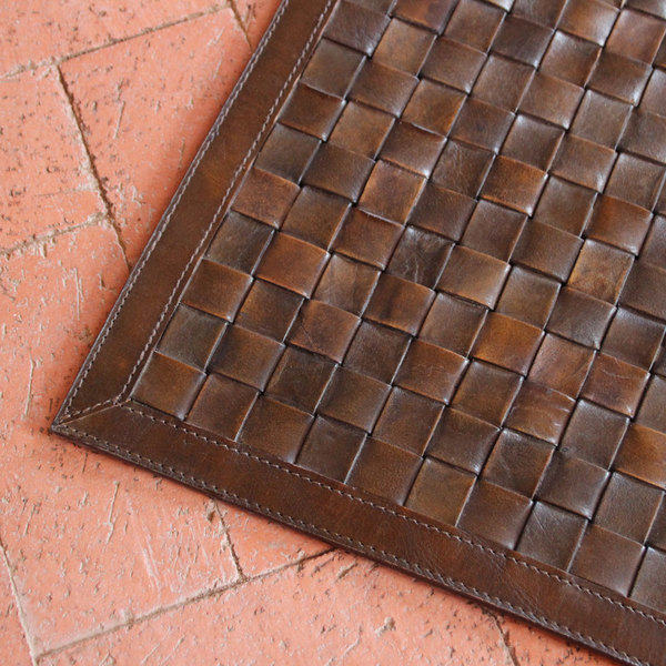 as shown: viceroy leather rug material: buffalo leather color: chocolate  brown description: KSBXMUG