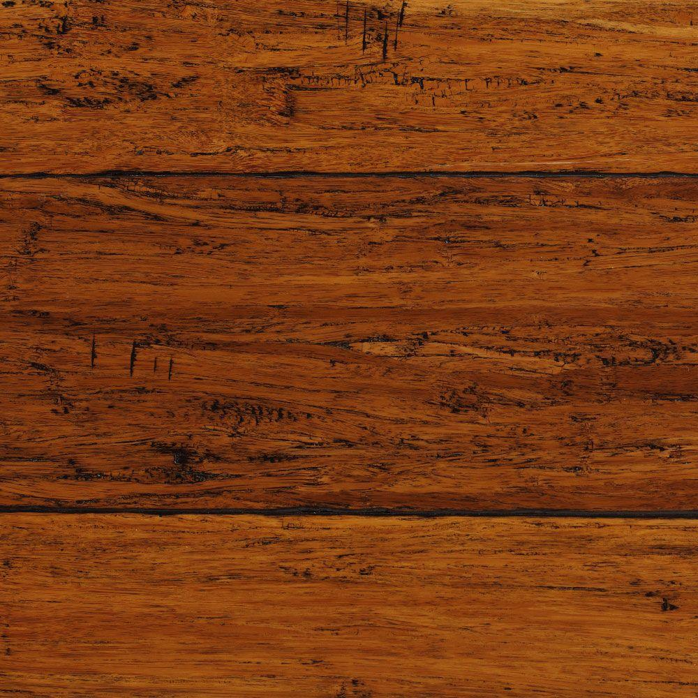 bamboo flooring home decorators collection hand scraped strand woven harvest 1/2 in. t x 5 DMCMFGQ