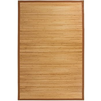 bamboo rug best choice products bamboo area rug carpet indoor outdoor wood 5u0027 ... RJQRLCP
