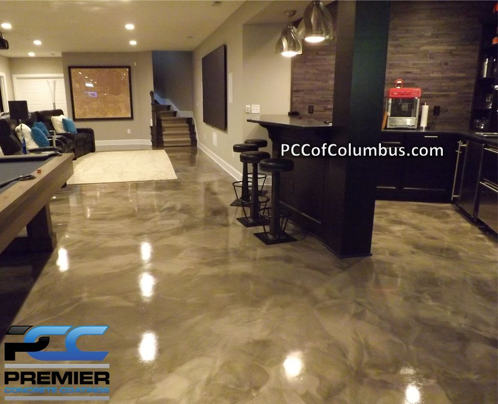 basement floor options basement flooring - metallic epoxy finish, stained concrete - columbus ohio AQSRWBF