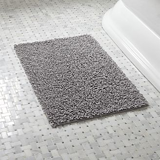 bathroom rug loop light grey bath rug PKXNEPQ