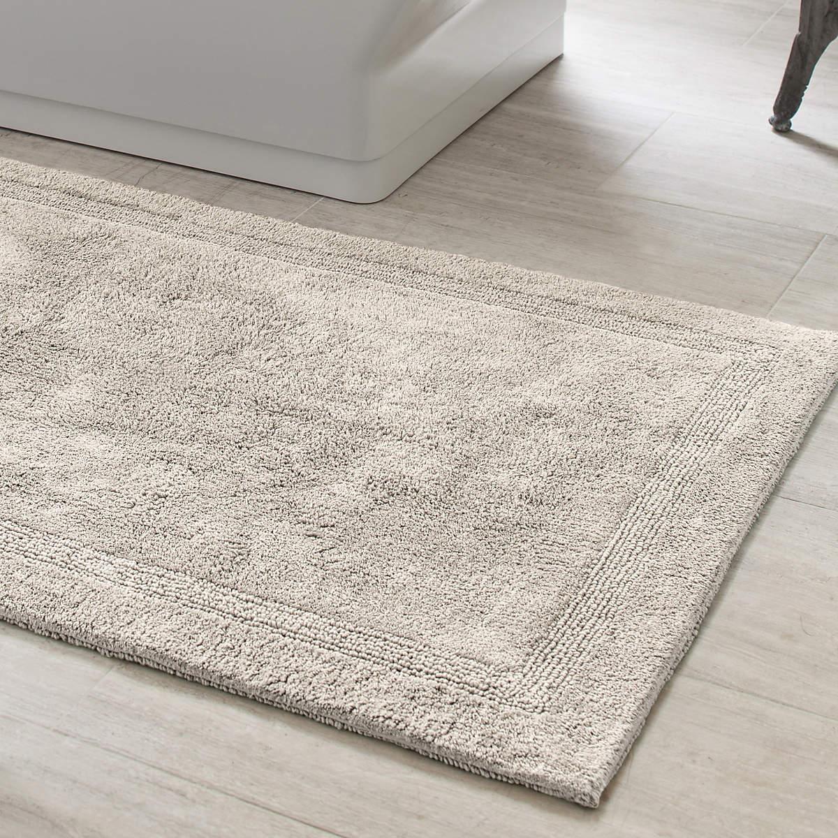 bathroom rug signature dove grey bath rug | pine cone hill CJLVDOO