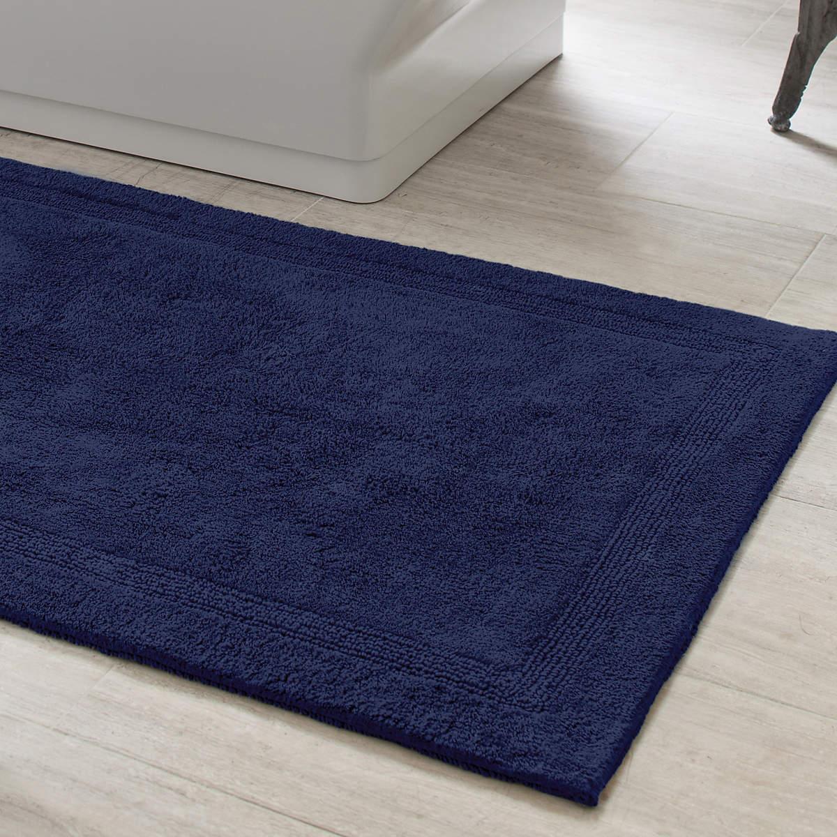bathroom rug signature indigo bath rug | pine cone hill MLSVCGJ