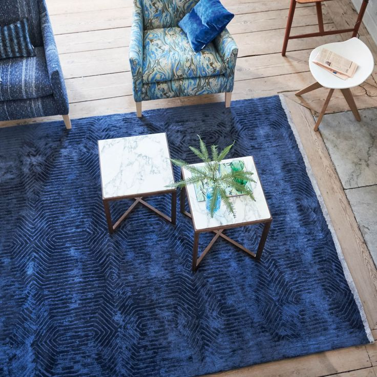 Best blue rug roxburgh indigo rug by designers guild CMNQKXF