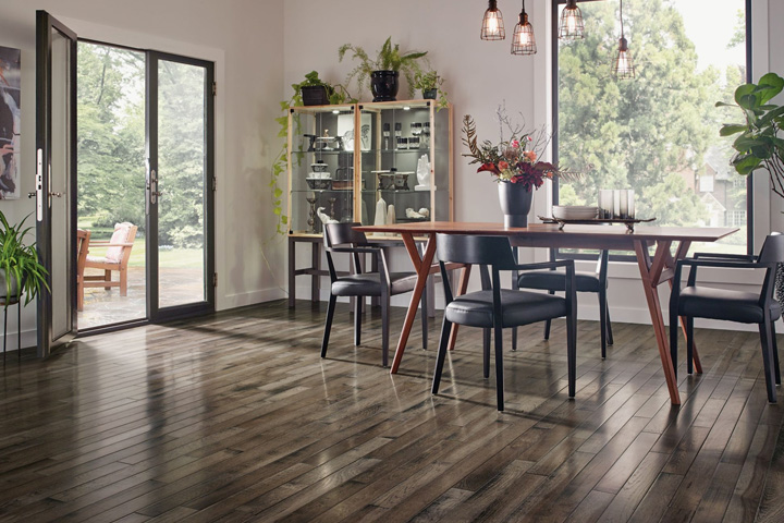 best wood flooring inspired gray hickory solid hardwood in the kitchen - sahrr39l4ig RAFMXQE