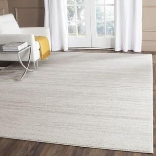 big area rugs safavieh adirondack vintage ombre ivory / silver area rug - 9u0027 square QNEJXYM