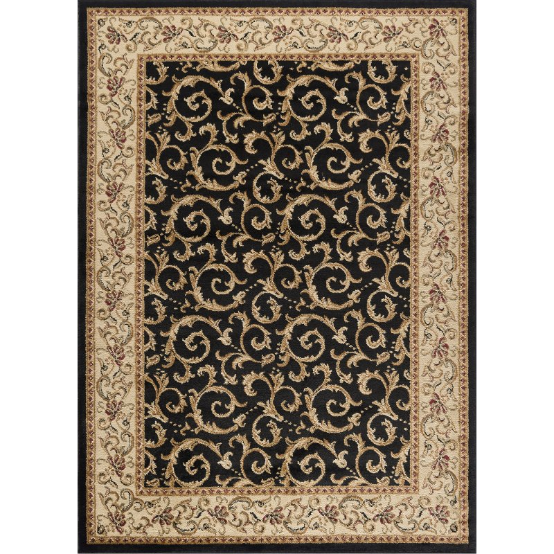 black area rugs elg5403 8x10 8 x 10 large ivory, gold, and black area rug - QKLXSCV