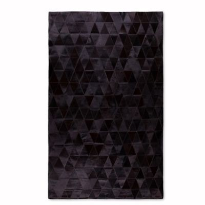 black area rugs natural stitch 8-foot x 10-foot hide area rug in mosaik black VCUMOYP