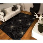 Long lasting black area rugs