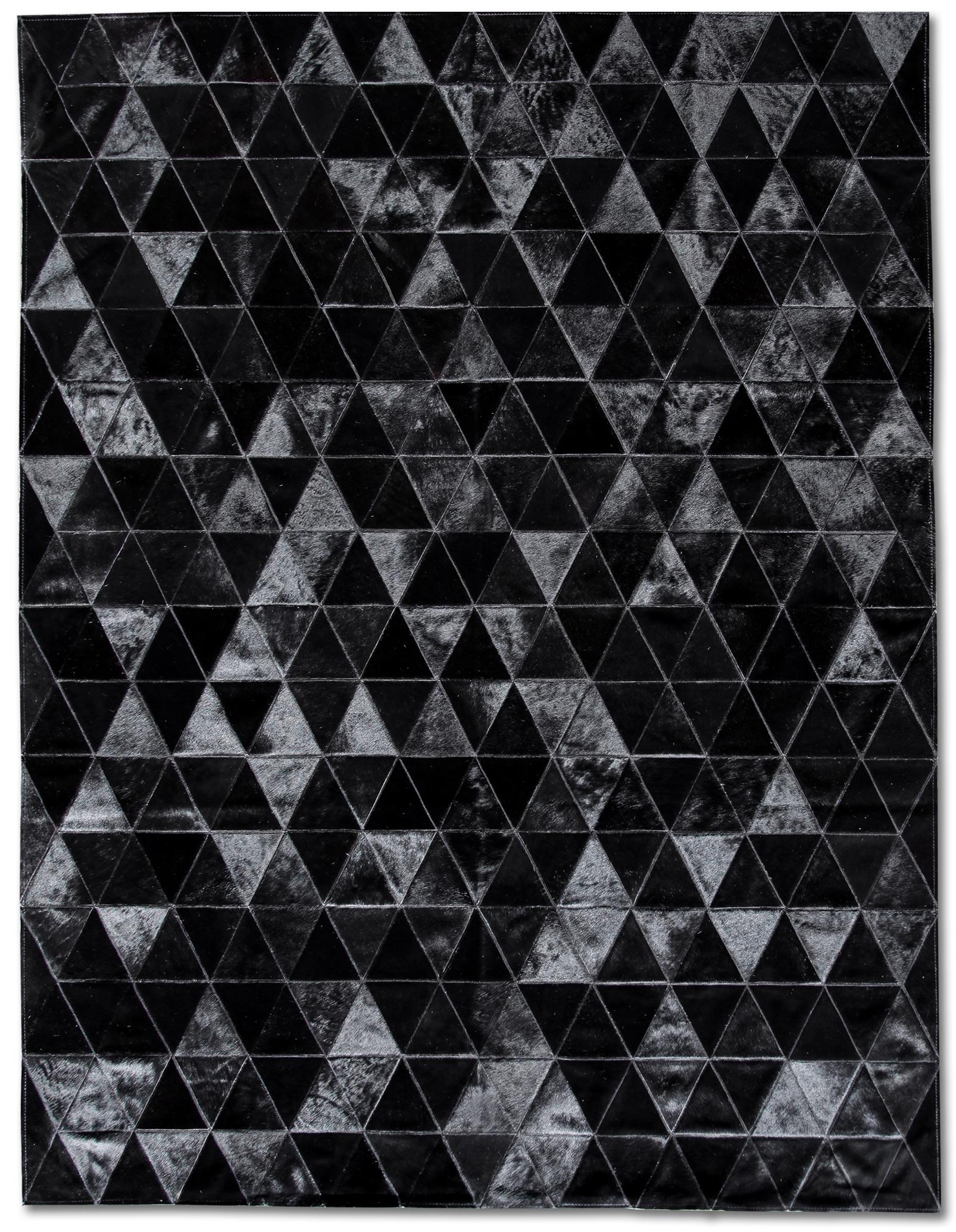 black rugs bespoke global - product detail - kahn cowhide rug - black UESIMDB
