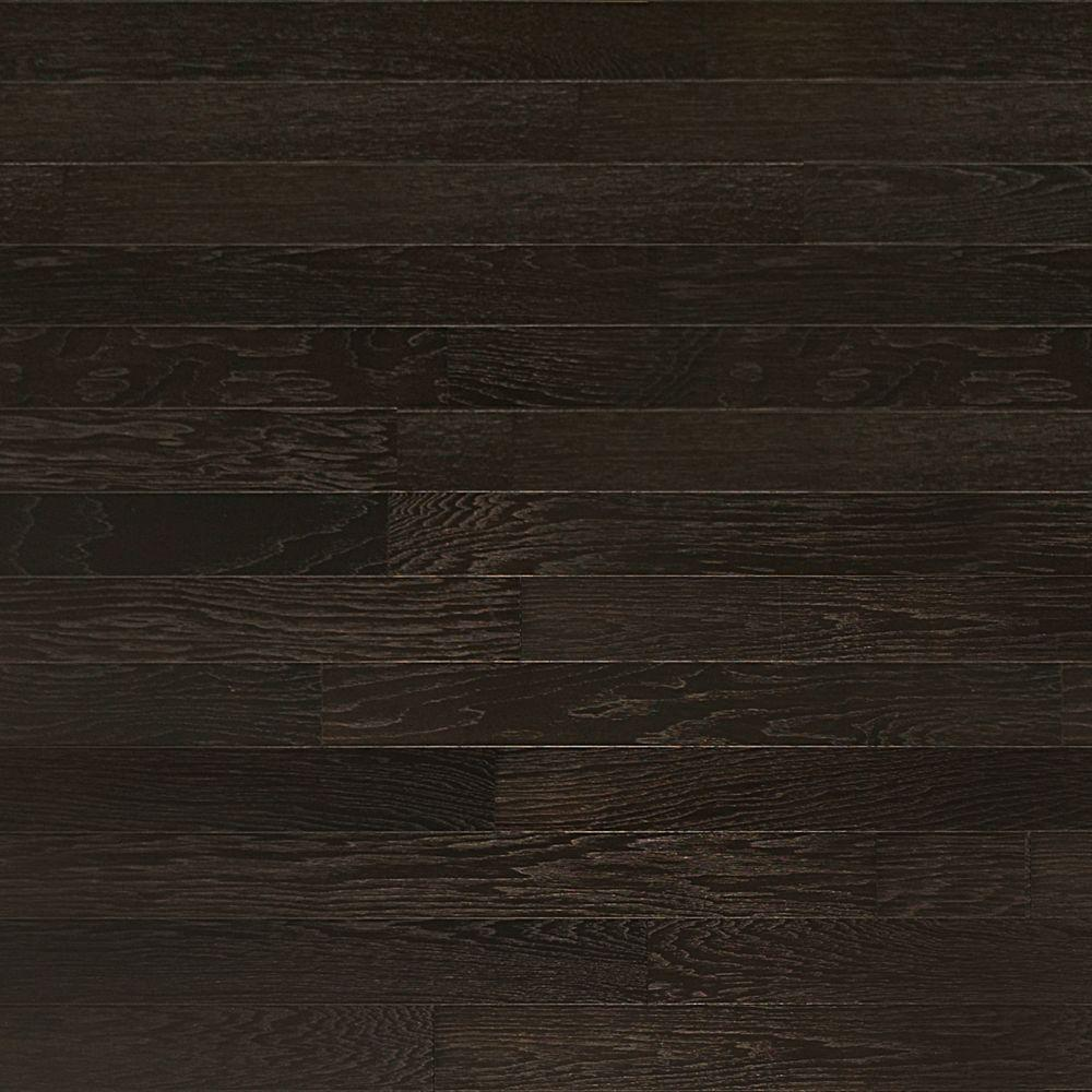 black wood flooring heritage mill brushed hickory ebony 1/2 in. thick x 5 in. wide PVYLODR