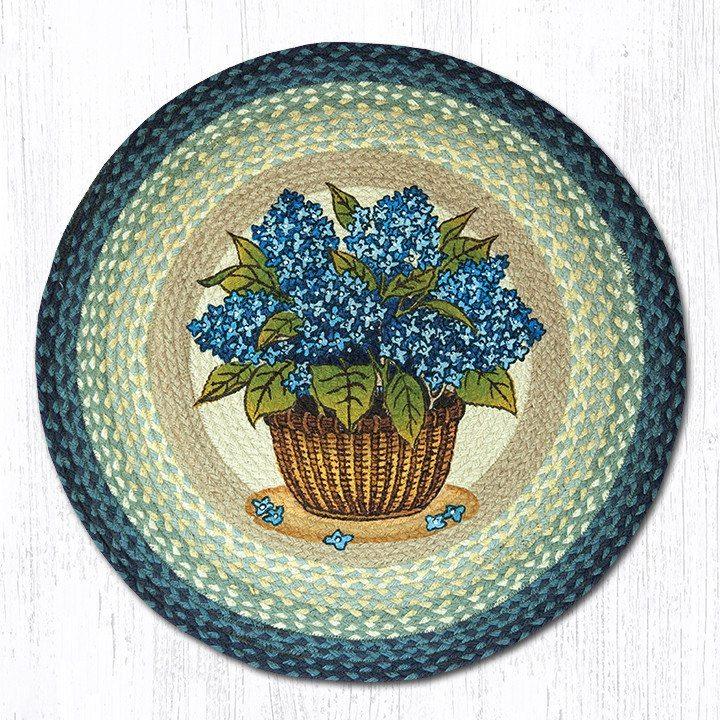 blue hydrangea 66-362bh round area rug 27x27 IPGYEFK