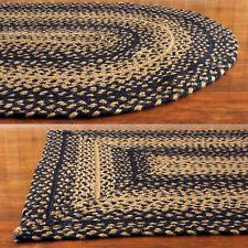 braided area rugs ebony black and tan jute braided area rug PEWVVKB