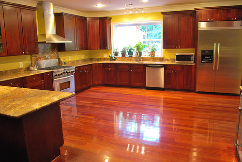 brazilian cherry wood floor kitchen brazilian cherry-hardwood floors -galeano u0026 galeano contractors inc  traditional-kitchen UXZZIRP