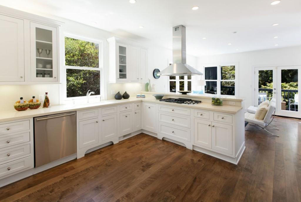 brazilian cherry wood floor kitchen white kitchen with brazilian cherry flooring NHWXSBN