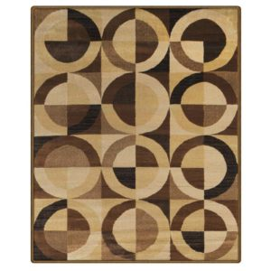 brown area rug with circles revolution 5×8 area rug SEIPXDX