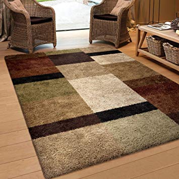 brown area rugs amazon.com: orian rugs geometric treasure box brown area rug (7u002710 YHXQUGP