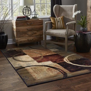 brown area rugs clay alder home percha blocks and rings brown/ black area rug - 6u00277 CIIMSSR