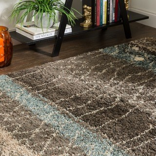 brown area rugs mohawk home huxley adobe brown/ black area rug - 8u0027 x ... GRXSTPQ