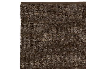 brown rug hand woven dark brown jute rug LINQGAW
