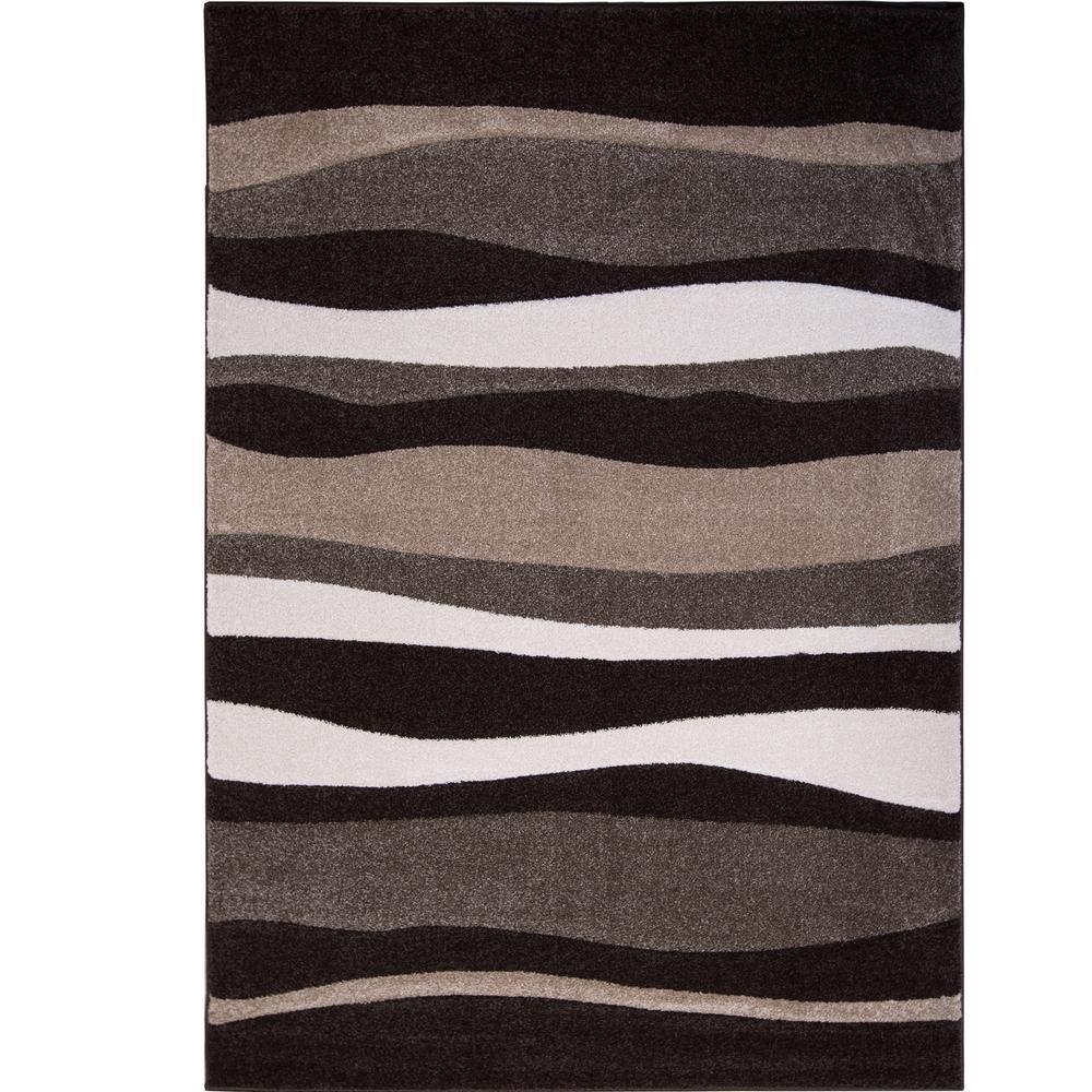 brown rug home dynamix bazaar zag dark brown 8 ft. x 10 ft. indoor area VUZUKXK