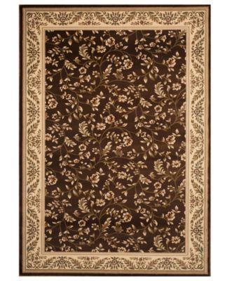 brown rug km home rugs, princeton floral brown QIWBLUT