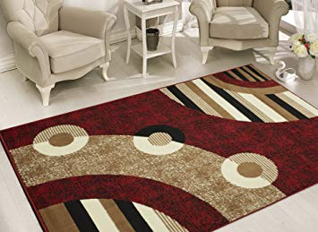 carpet designs for home amazon.com: sweet home stores modern circles design area rug, 8u00272 x 9u002710, OQWPDTJ