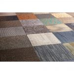 Install carpet floor tiles in high traffic areas