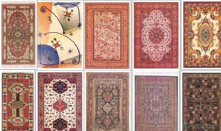 carpet models 3d model 10 carpet APELKQD