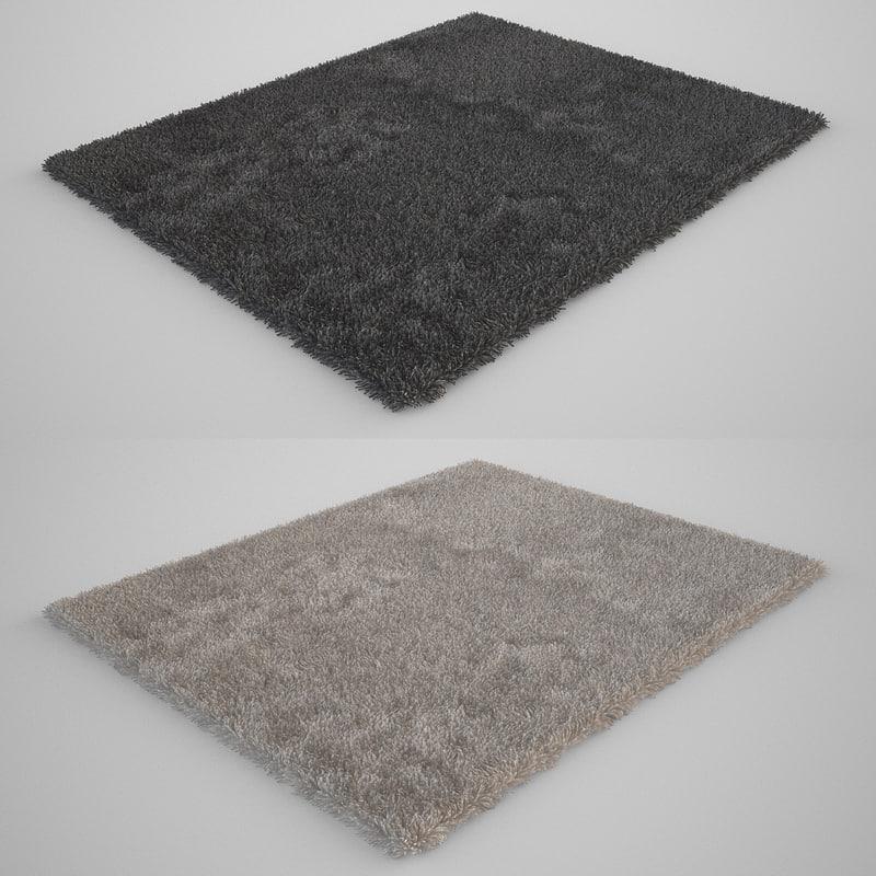 carpet models 3d model realistic carpet rug fur ESTTKPQ