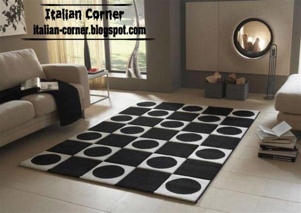 carpet models modern italian carpet, modern rug chess carpet black and white model CJDBOMW