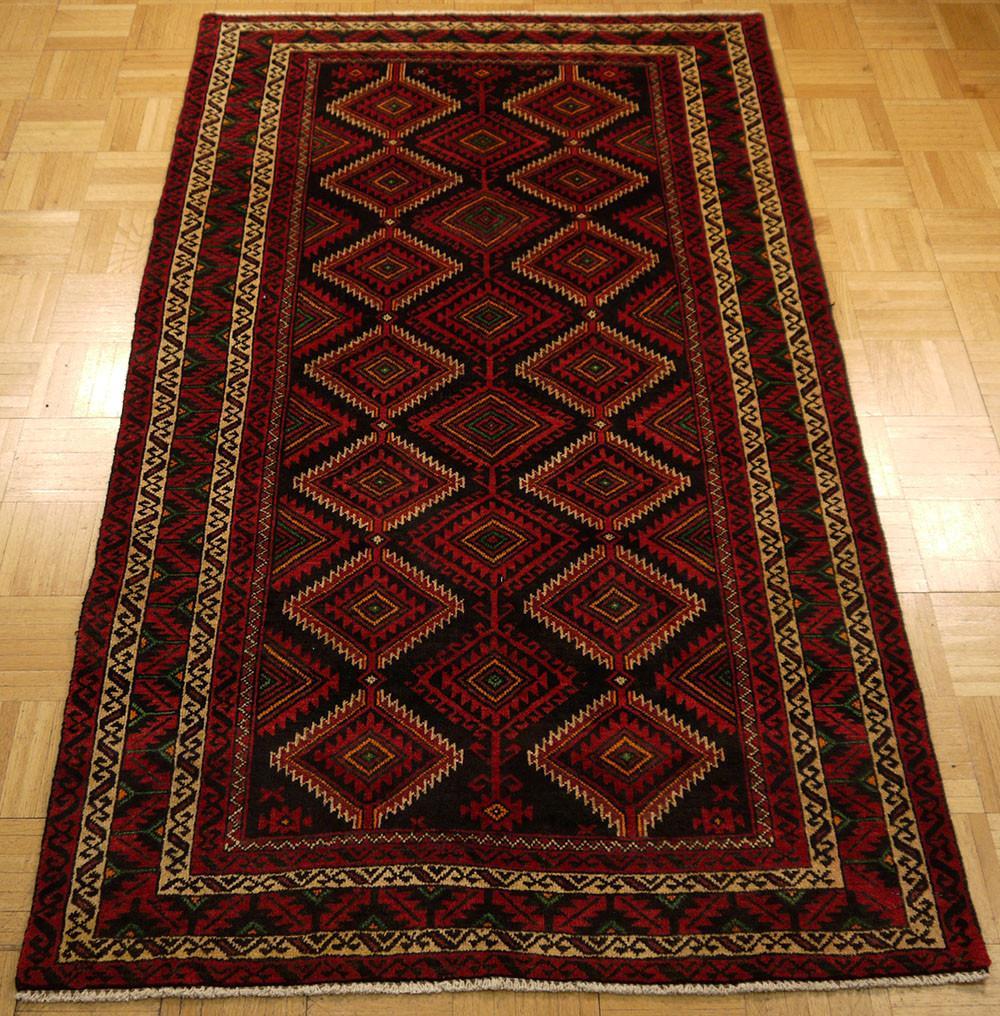 Carpet rug 16870-balutch hand-knotted/handmade persian rug/carpet tribal/nomadic -  babaku0027s oriental carpets LYDVUTA