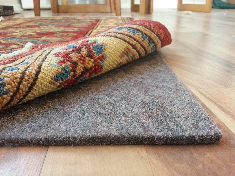 Carpet rug amazon.com: rug pad central 8u0027 x 10u0027 100% felt rug pad, extra thick- EYXIGHE