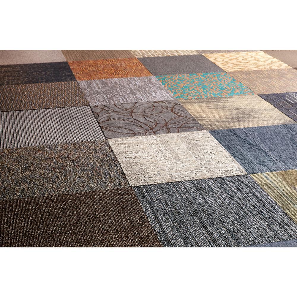 Comfort with plush carpet tiles