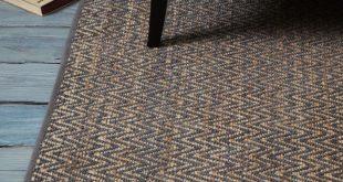 chenille rug jute chenille herringbone rug - natural/slate | west elm ISCTJCR