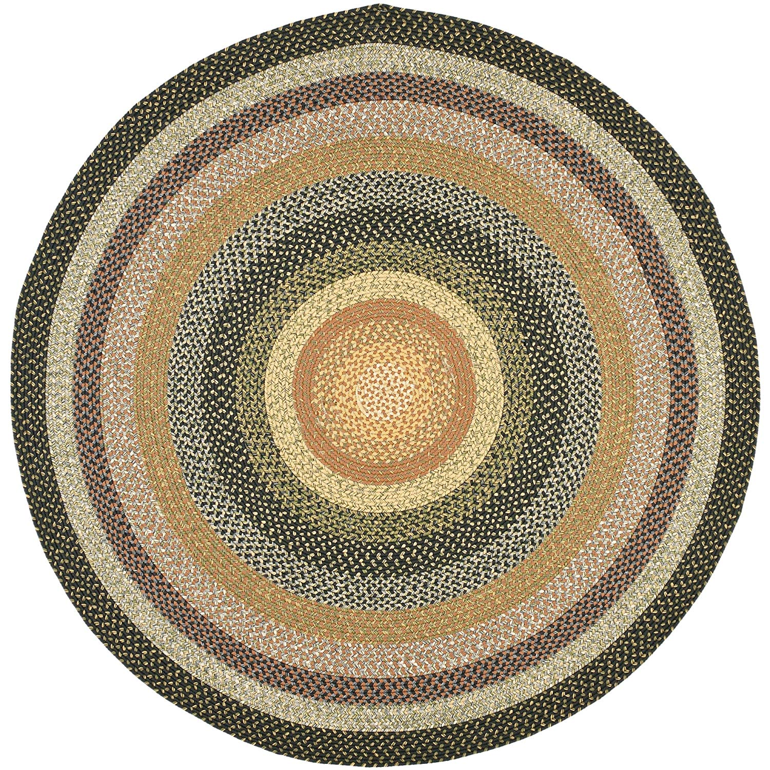 Circle rugs amazon.com: safavieh braided collection brd308a hand woven blue and multi  round area TBSOLXN
